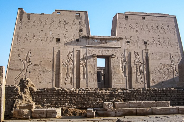 Ancient Egyptian history placed a great deal of importance on this cult, as it signified the triumph of good over evil. And all pharaohs claimed to be incarnations of Horus. - Temple of Horus, Edfu, Egypt - Fountainhead of a Cult - Travelure ©