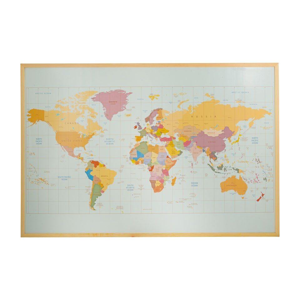 Prikbord Wereldkaart Groot