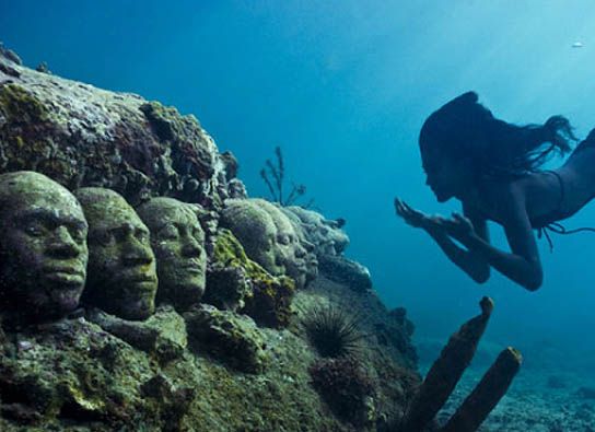 Image result for mexican underwater museum