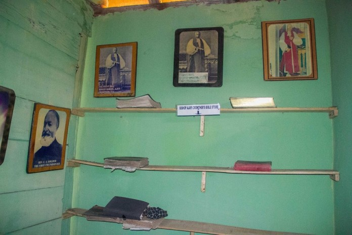 The original translated Bible Inside First Storey building in Nigeria
