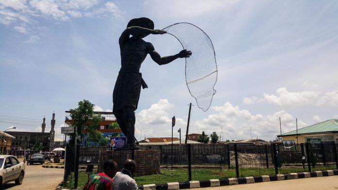 fisherman statue Badagry