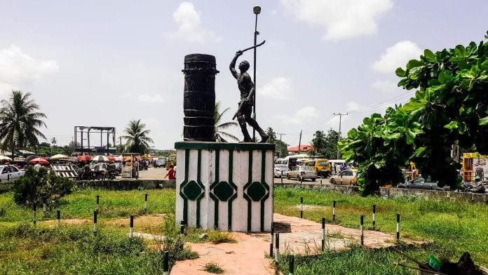 Badagry roundabout the drummer boy statue
