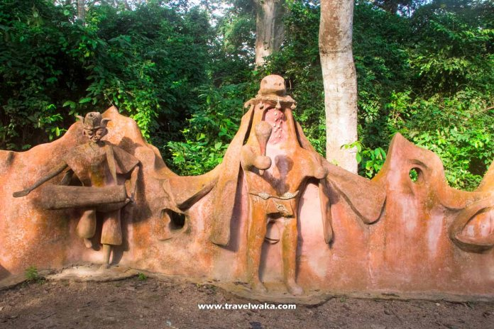 artworks at osun osogbo grove