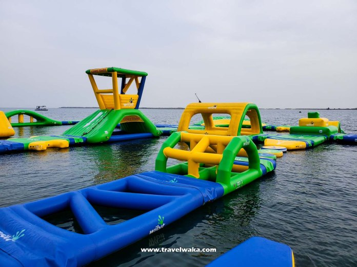 inflattable water park