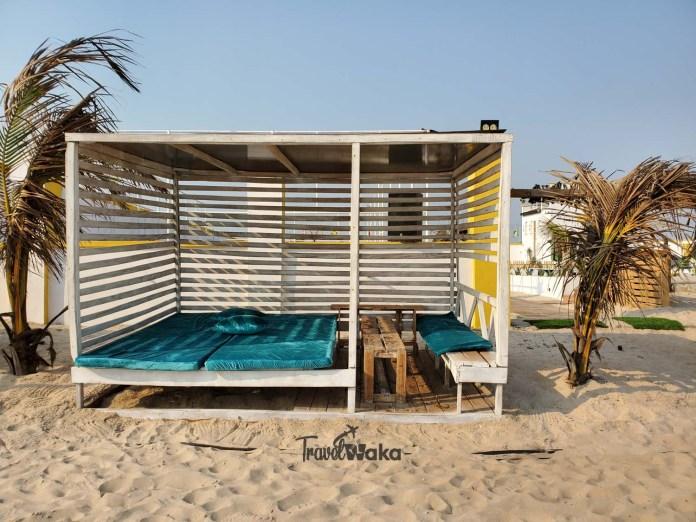 cabana in lagos beach