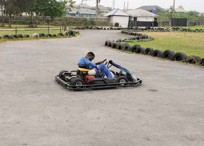 go kart at omu resort