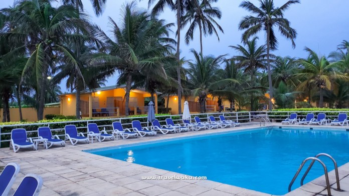 Swimming pool at a resort in Benin republic