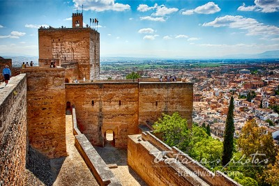 Travel Destinations Photography: Alhambra Tower Granada, Andalucia, Spain