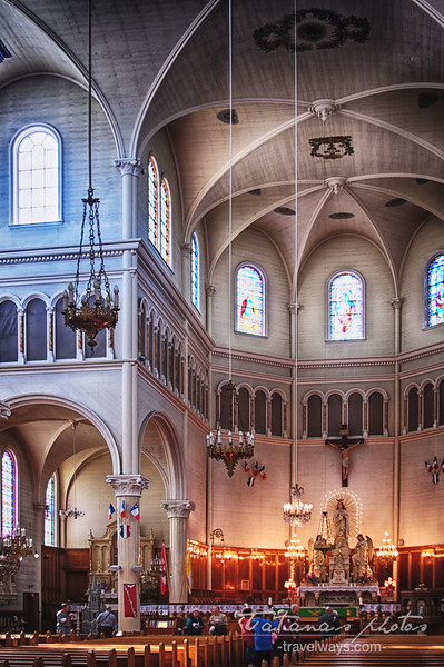 St. Mary Cathedral, Briar Island, Acadian Trail Yarmouth - The largest wooden church in N. America