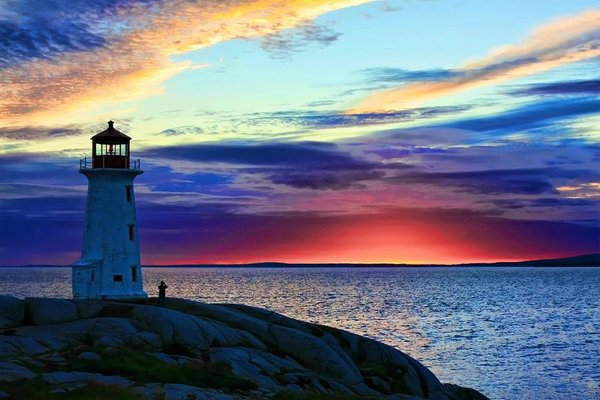 Peggy's Cove Lighthouse - One of the top attractions in Nova Scotia, Canada