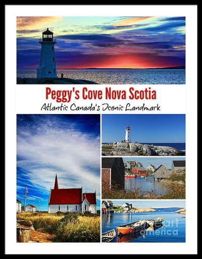 Peggy's Cove Nova Scotia poster framed