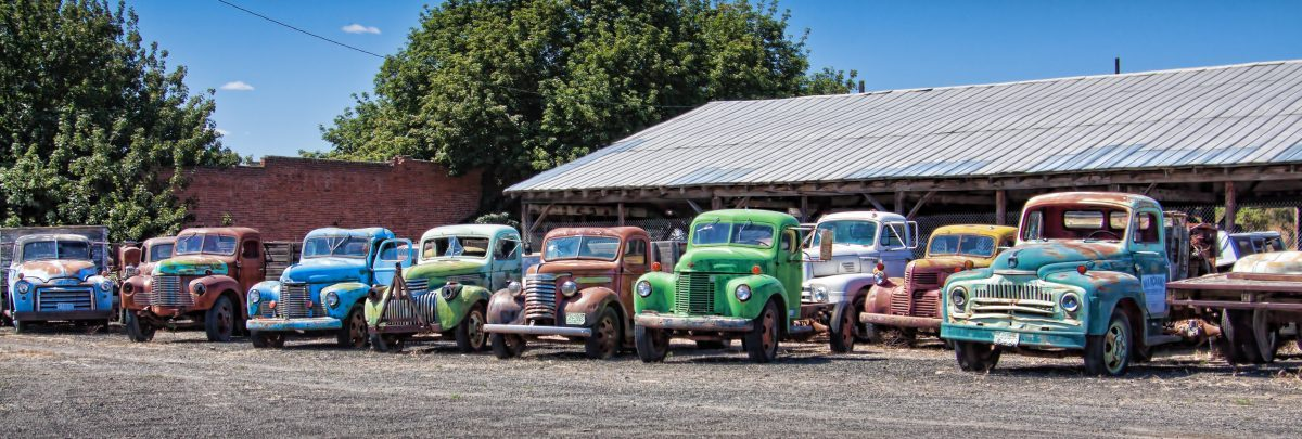 Old trucks in Sprague, Washington - by Tatiana Travelways