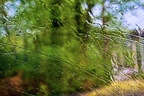 summer rain abstract art print by Tatiana Tavelways