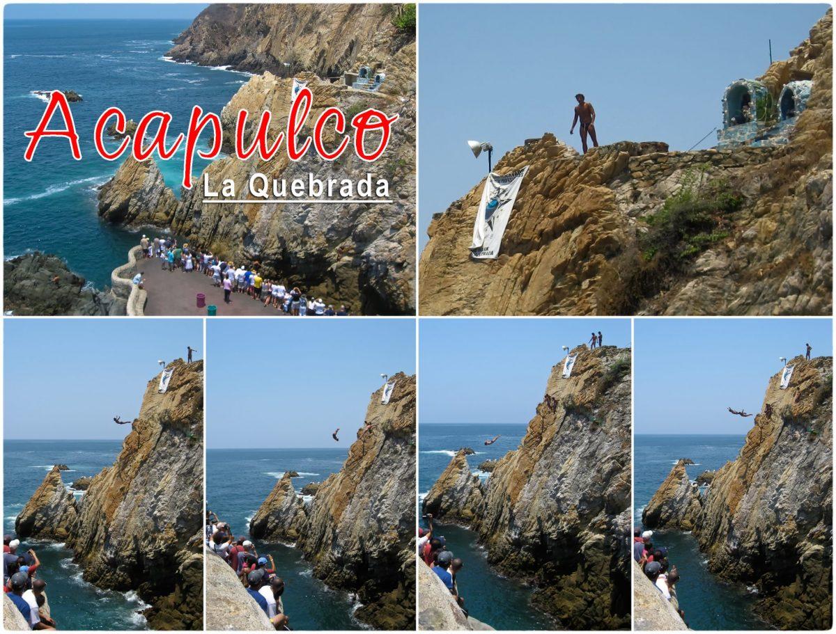 La Quebrada cliff divers Acapulco postcard