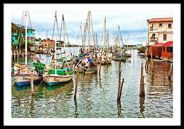 Colors of Belize Digital Paint - Framed Art Print