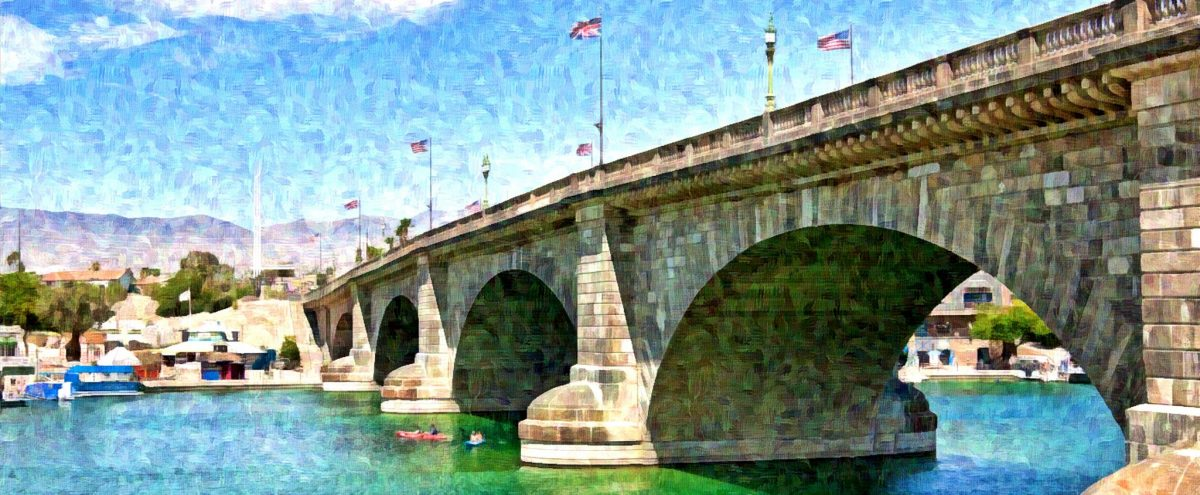 London Bridge Havasu City Arizona - Digital paint by Tatiana Travelways