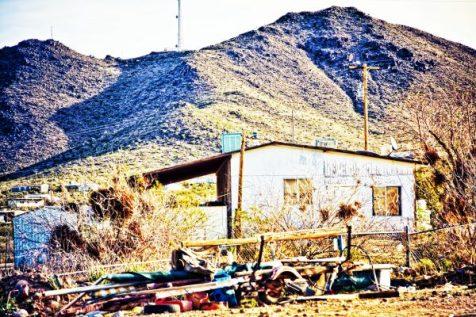 Arizona desert backyard junk