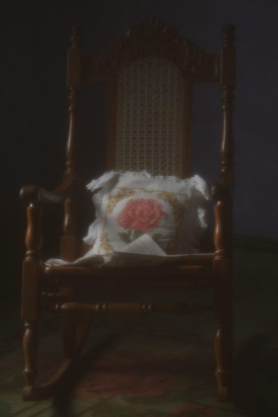 Rocking chair soft focus photo