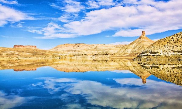 Two things alike - reflection at Flaming Gorge Reservoir, Utah