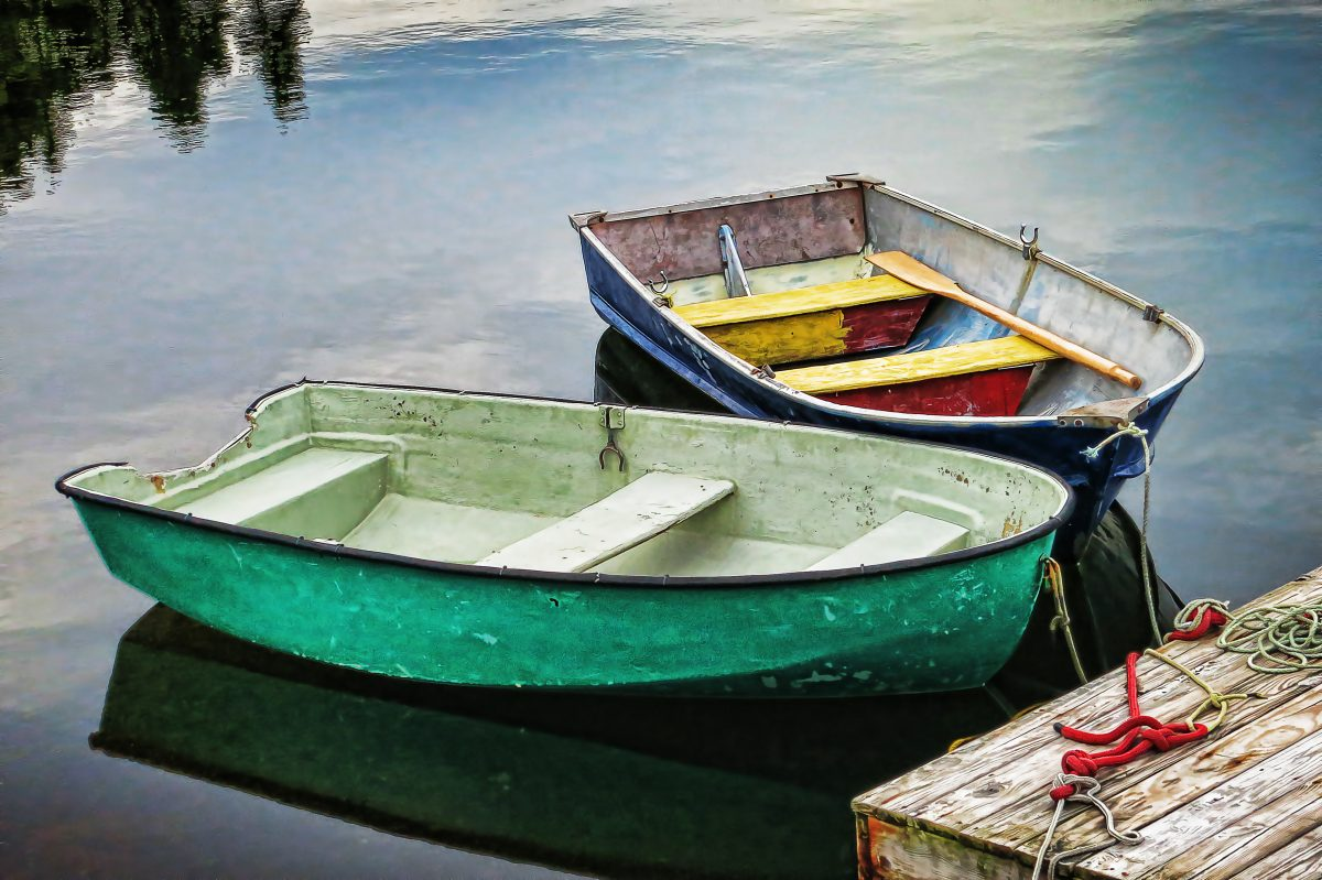 two rowboats