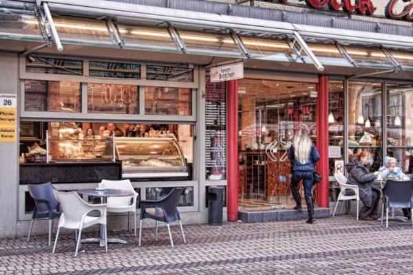 Cafe in Nuremberg, Germany