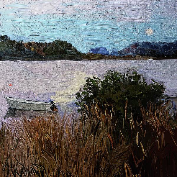 Full moon Newfountland digital painting