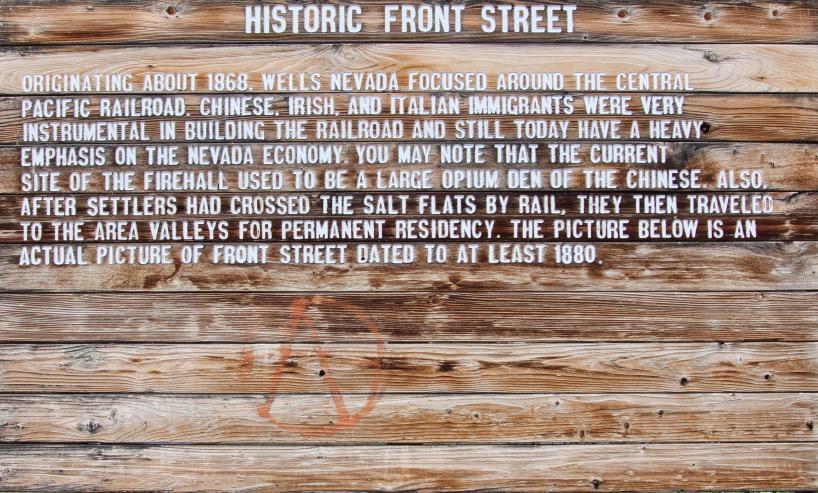 Wells Nevada historic text