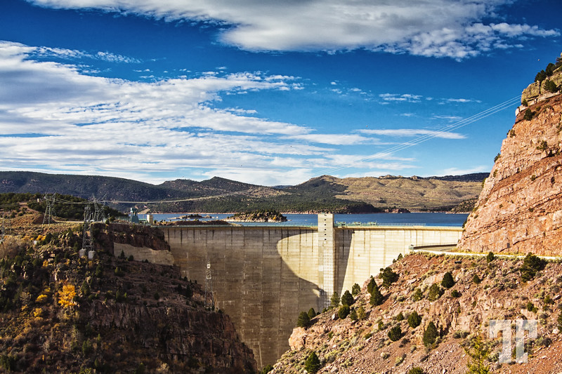 Dam at Flaming Gorge Reservoir, Utah