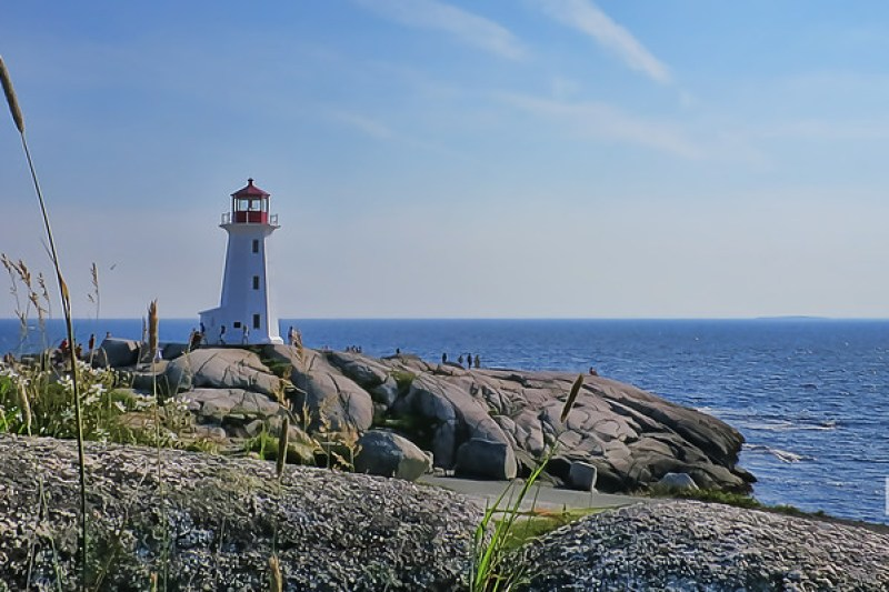 Peggy's Cove Lighthouse in July