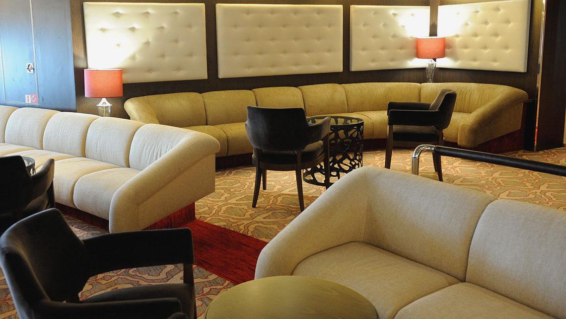 The Star Pride's refurbished lounge.