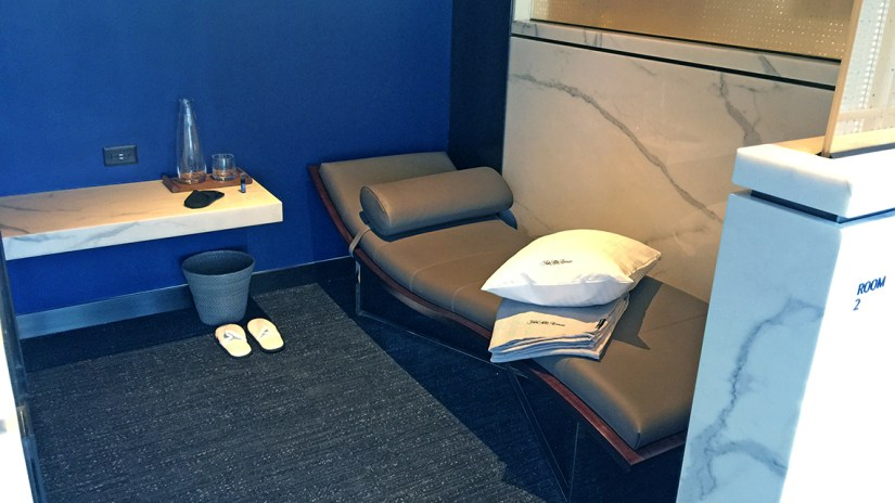 Polaris guests can use a private day bed suite, complete with adjustable lights and temperature. Photo Credit: Robert Silk