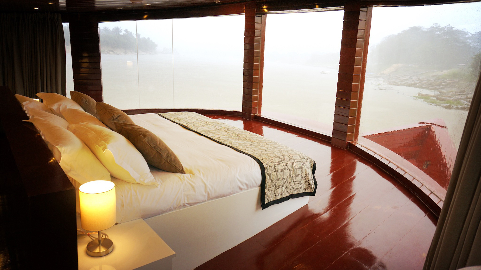A suite onboard the newly launched Amazonas.