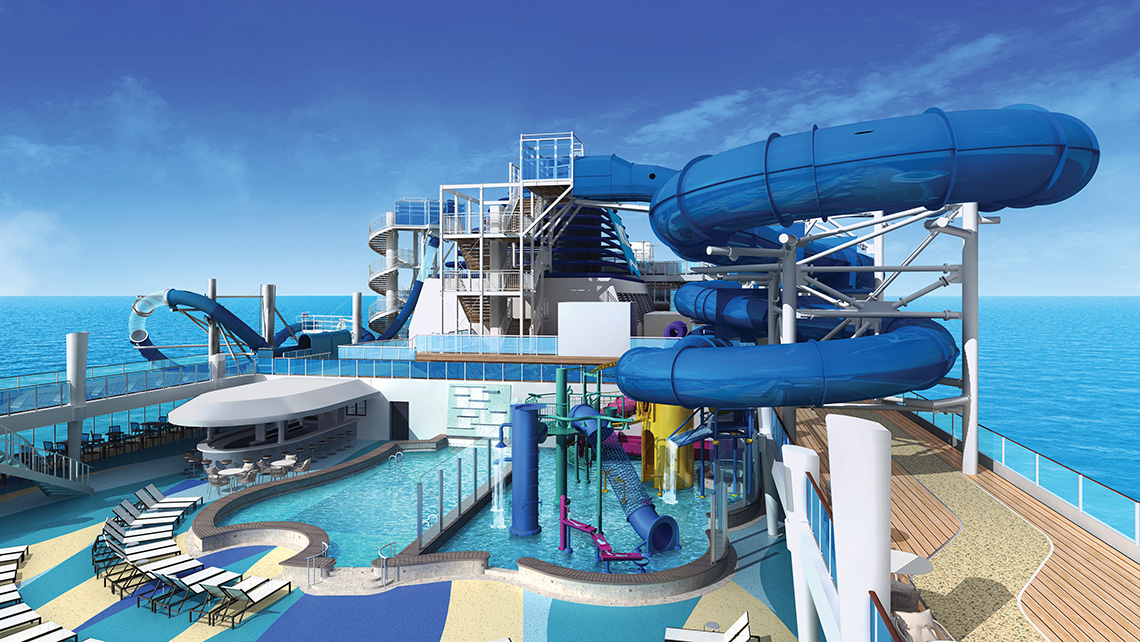 The Aqua Park will feature a splash area and water slides.
