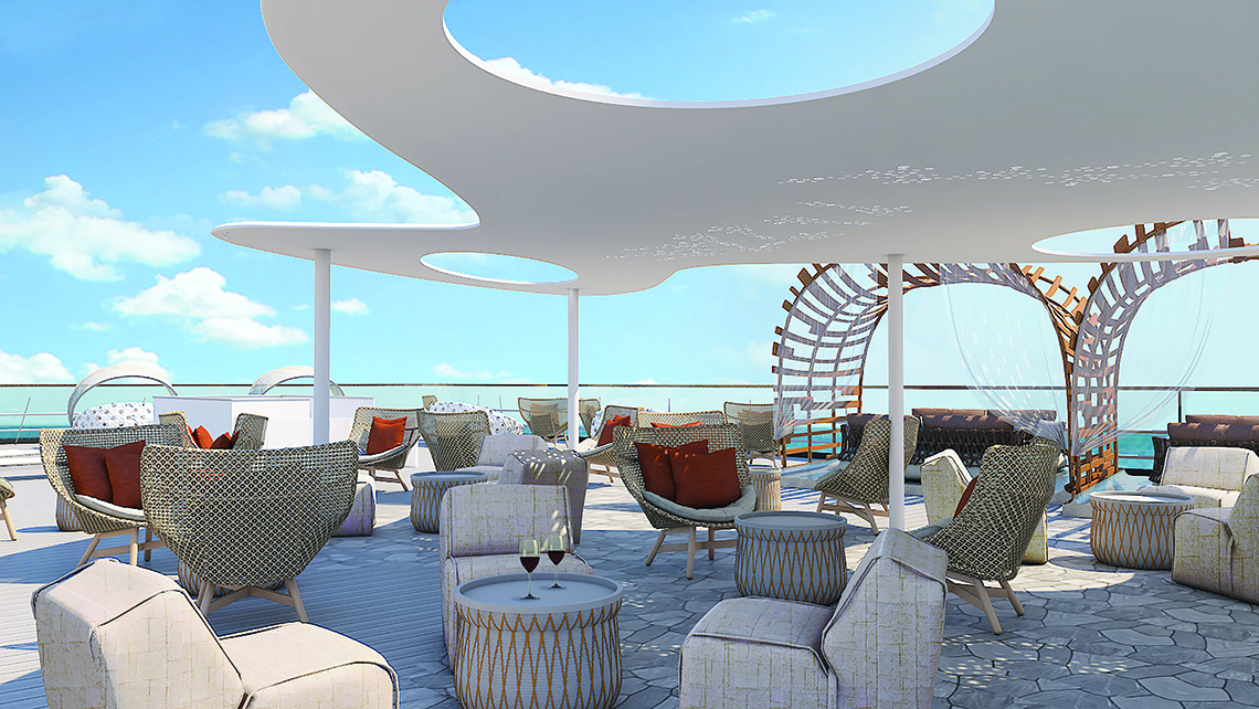 The Vista will be the Flora's top-deck area.