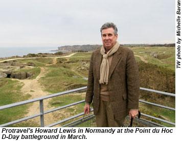 Protravels Howard Lewis in Normandy.