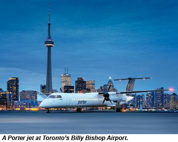 Porter Jet in Toronto