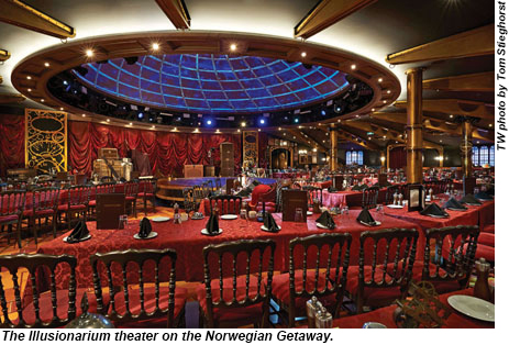 Norwegian Getaway Illusionarium Theater