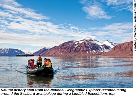 Svalbard Archipelago excursion during a Lindblad Expeditions trip.