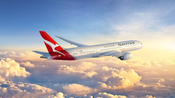 qantas airways travel wide flights