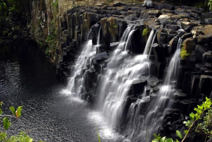 Beautiful Water Fall in Mauritius, Beautiful Nature in Mauritius, Travel Wide Flights