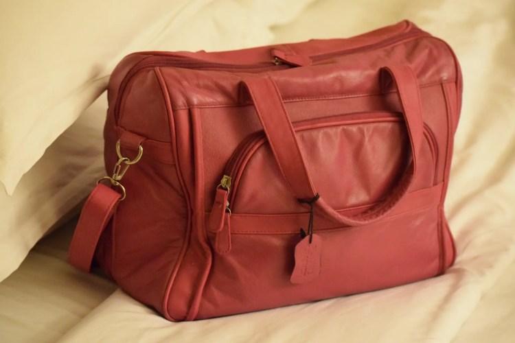small pink bag