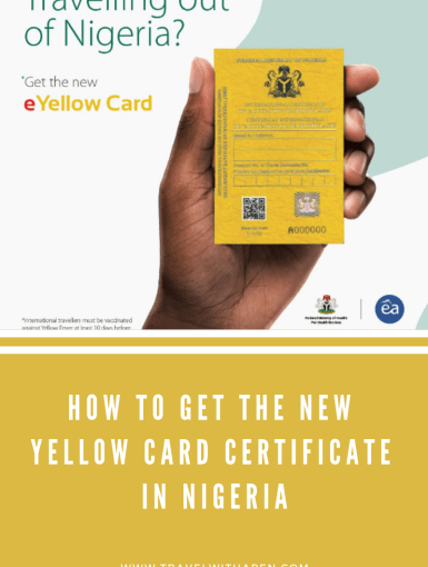 New Yellow Card in Nigeria