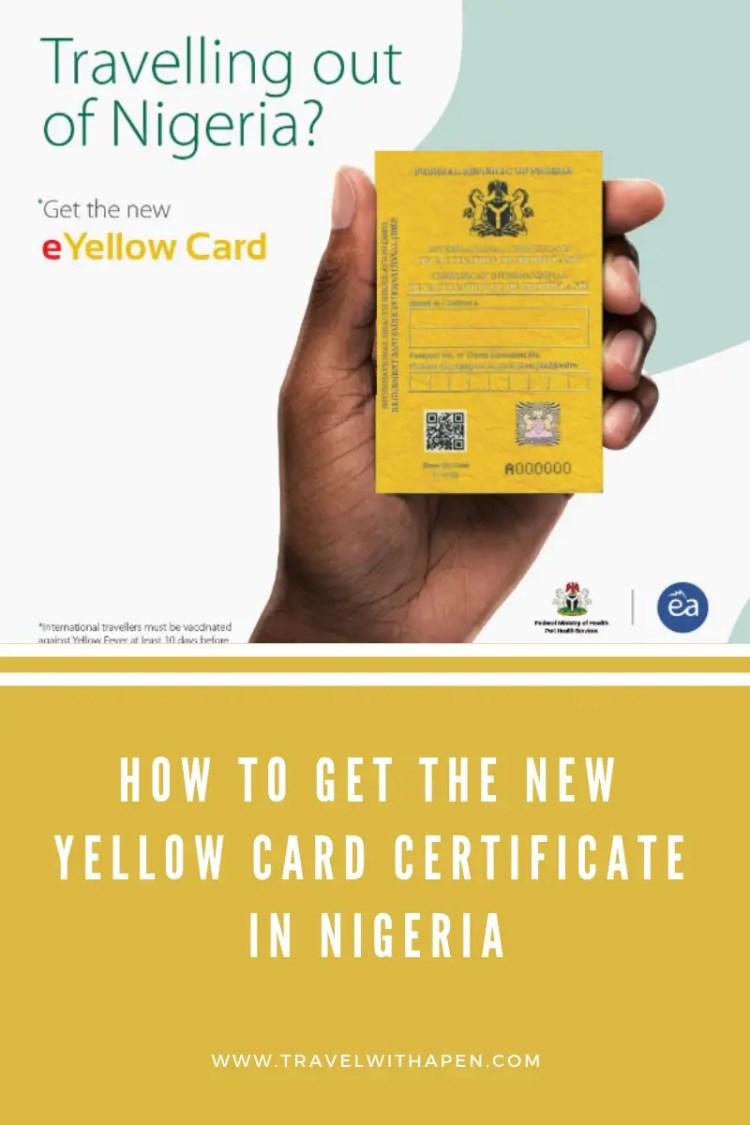 New Yellow Card in Nigeria