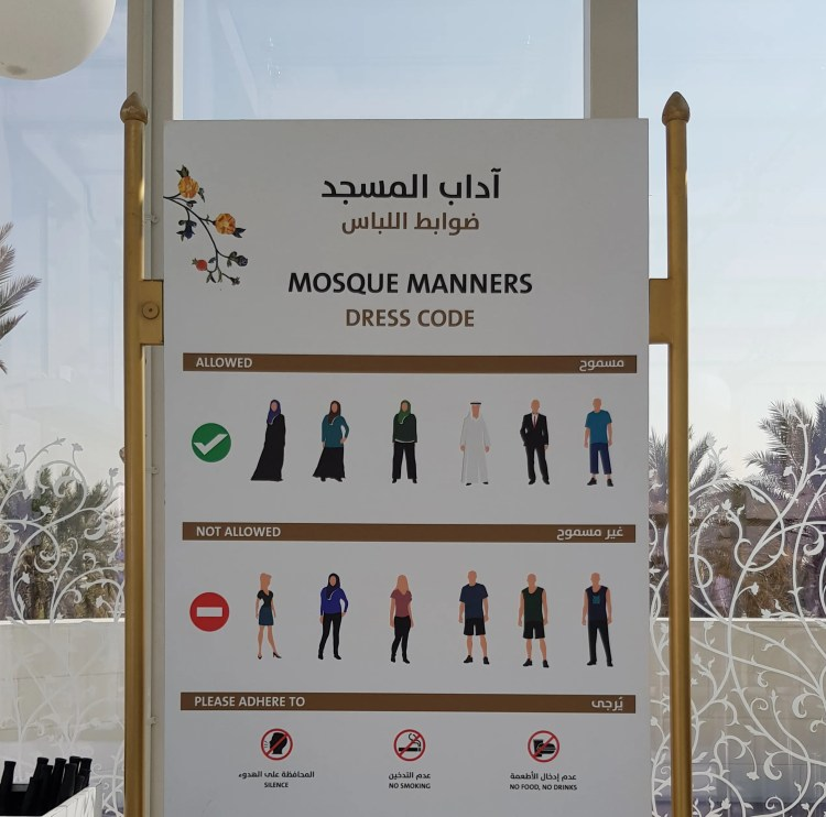 Dress code for Dubai Mosques