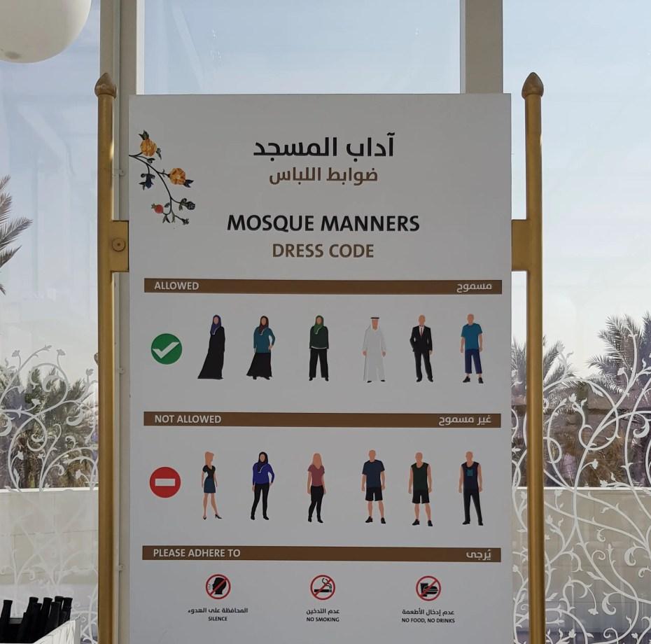Dress code for Dubai Mosques