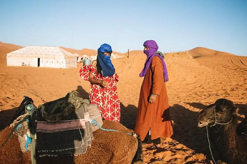 Camping in the Sahara Desert Erg Chebbi
