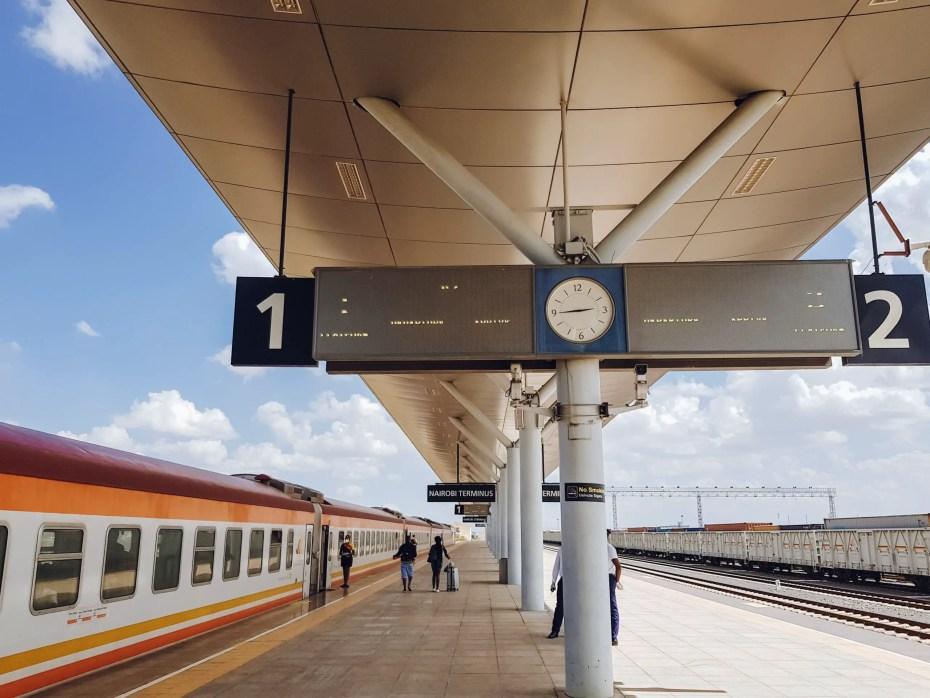 SGR Nairobi to Mombasa Train Nairobi Platform