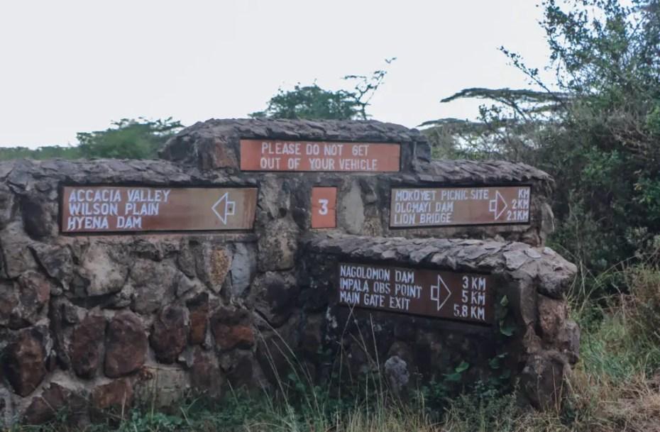 Nairobi National Park Signs