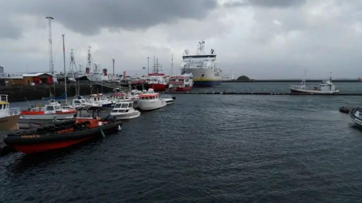 Portul din Reykjavik, o zi în Reykjavik, Islanda