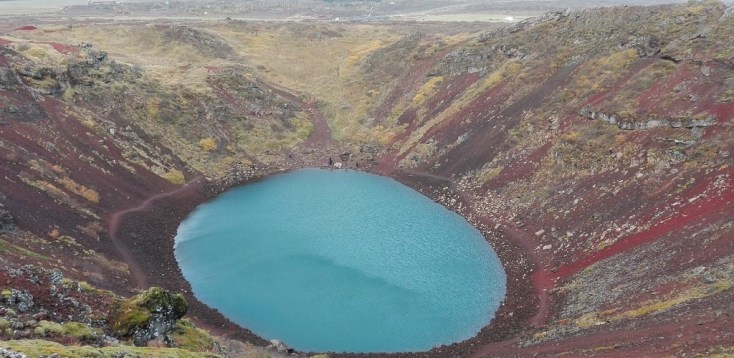 Kerid Crater in autumn, Golden Circle, Iceland